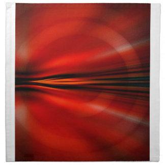 Diseño abstracto futurista servilletas imprimidas