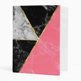 Diseño abstracto geométrico de la colección de mini carpeta