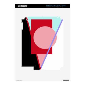 Diseño abstracto geométrico pegatinas skins para iPad 3