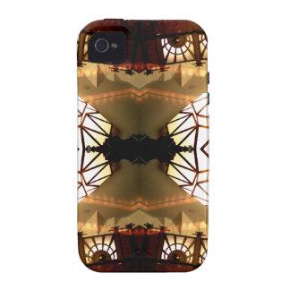 Diseño abstracto hábil inusual romántico bonito Case-Mate iPhone 4 funda