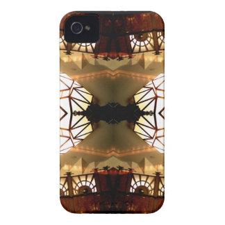 Diseño abstracto hábil inusual romántico bonito iPhone 4 cobertura
