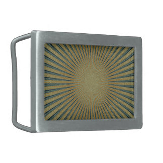 Diseño abstracto hebilla de cinturón rectangular