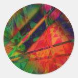 Diseño abstracto hermoso pegatina redonda