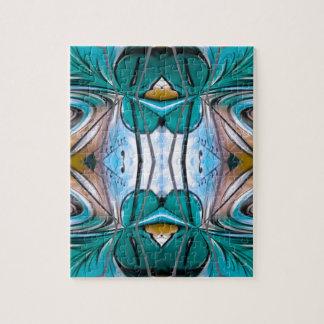 Diseño abstracto hermoso verde de las flores puzzles con fotos
