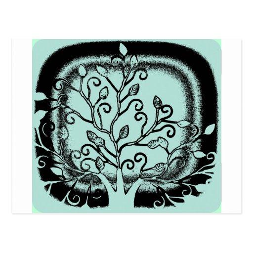 Diseño abstracto impresionante de las hojas del ár postales