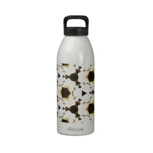 diseño abstracto loco botella de beber
