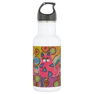 Diseño abstracto loco colorido del gato