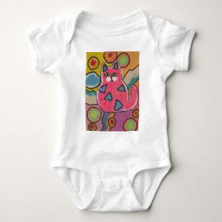 Diseño abstracto loco colorido del gato mameluco de bebé