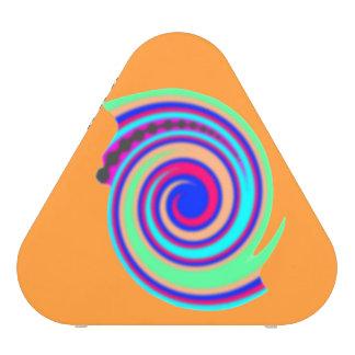 Diseño abstracto loco del remolino, fondo altavoz