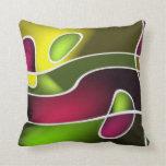 Diseño abstracto moderno almohadas