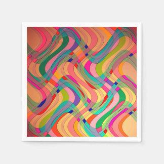 Diseño abstracto moderno colorido servilleta de papel