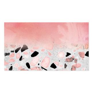 Diseño abstracto moderno de la acuarela y del tarjetas de visita