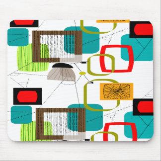 Diseño abstracto moderno de los mediados de siglo mousepads