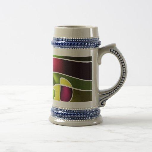 Diseño abstracto moderno taza de café