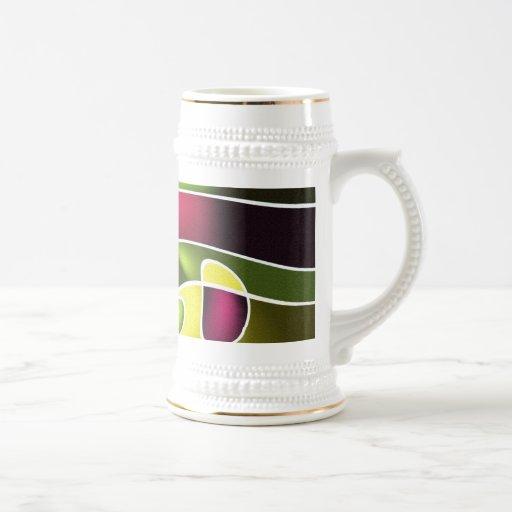 Diseño abstracto moderno tazas