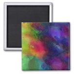 Diseño abstracto, muchos colores imán de frigorifico