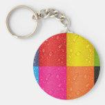 Diseño abstracto multicolor llaveros