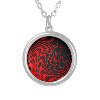 Diseño abstracto negro y rojo grimpola personalizada