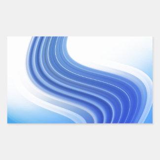 Diseño abstracto pegatina rectangular