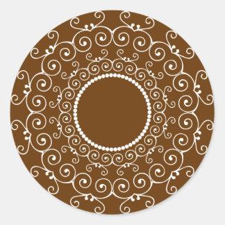 Diseño abstracto pegatina redonda