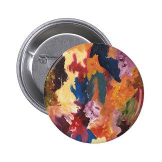 Diseño abstracto pin redondo 5 cm