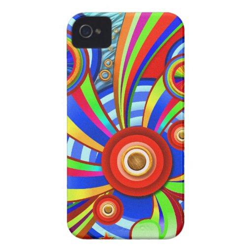 Diseño abstracto psicodélico del estallido del iPhone 4 Case-Mate protector