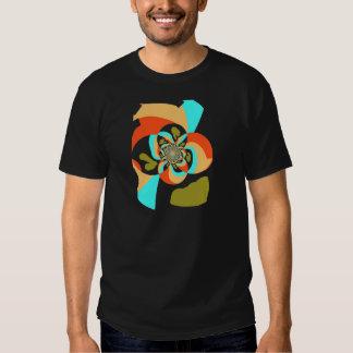 Diseño abstracto psicodélico retro de la camiseta playera