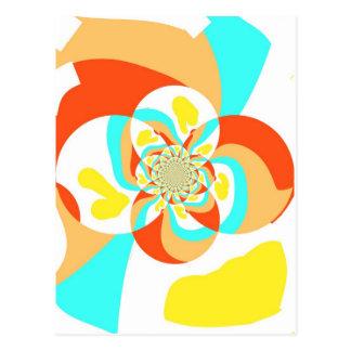 Diseño abstracto psicodélico retro tarjeta postal