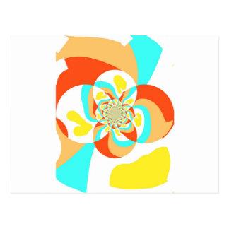 Diseño abstracto psicodélico retro tarjetas postales