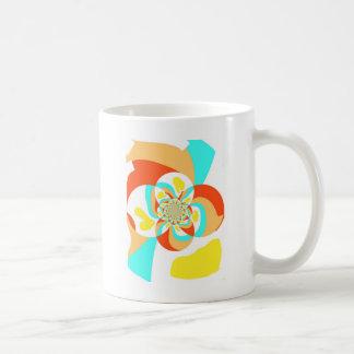Diseño abstracto psicodélico retro taza de café