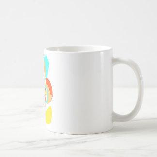 Diseño abstracto psicodélico retro tazas de café