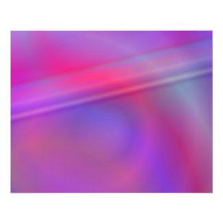 Diseño abstracto púrpura folleto 11,4 x 14,2 cm