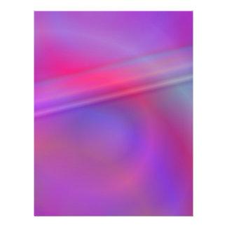 Diseño abstracto púrpura folleto 21,6 x 28 cm