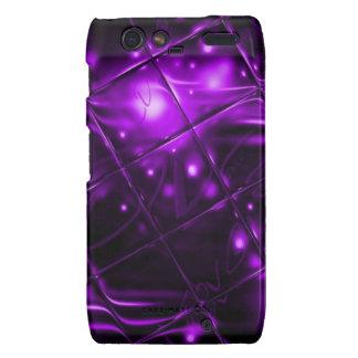 Diseño abstracto púrpura droid RAZR fundas