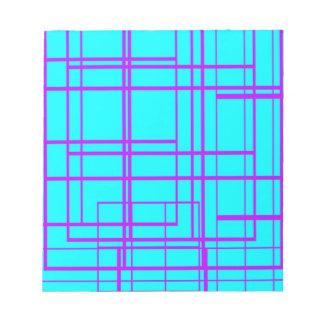 Diseño abstracto púrpura y azul blocs de papel