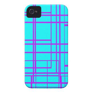 Diseño abstracto púrpura y azul iPhone 4 cárcasa