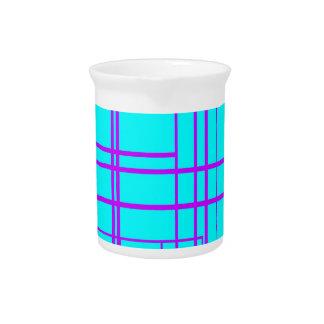 Diseño abstracto púrpura y azul jarra de beber