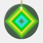Diseño abstracto que brilla intensamente del ornaments para arbol de navidad