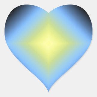 Diseño abstracto que brilla intensamente del pegatina en forma de corazón