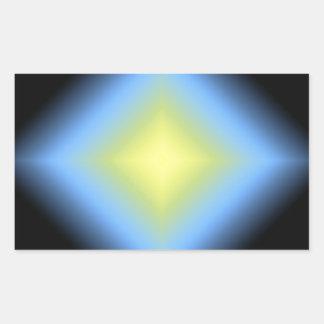 Diseño abstracto que brilla intensamente del pegatina rectangular