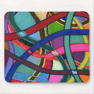 """Diseño abstracto """"que teje"""" enredado Mousepad"""