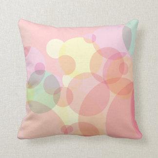 Diseño abstracto redondo colorido de los círculos cojin