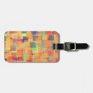 Diseño abstracto retro del arte del arco iris etiquetas de maletas