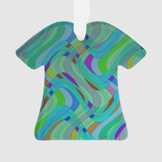 Diseño abstracto retro moderno en verdes y azules