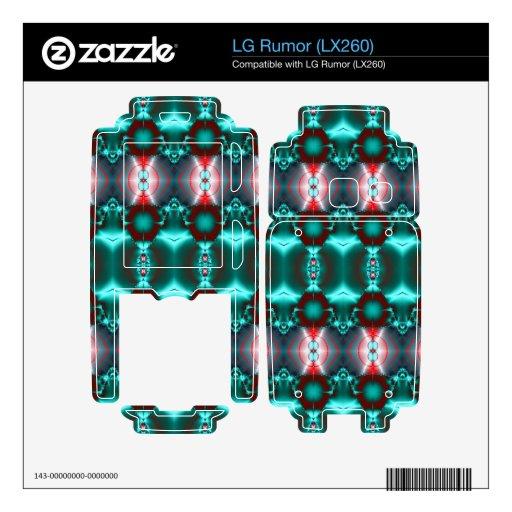 Diseño abstracto rojo del trullo moderno LG rumor calcomanía