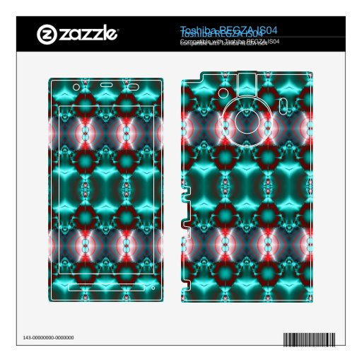 Diseño abstracto rojo del trullo moderno toshiba REGZA calcomanía