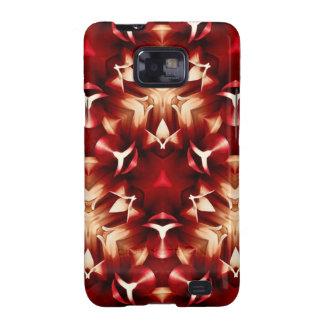 Diseño abstracto rojo y blanco galaxy SII fundas
