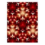 Diseño abstracto rojo y blanco postal