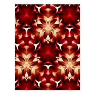 Diseño abstracto rojo y blanco tarjetas postales