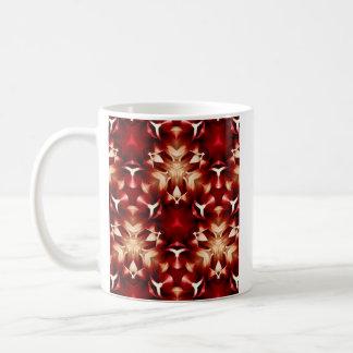 Diseño abstracto rojo y blanco taza básica blanca
